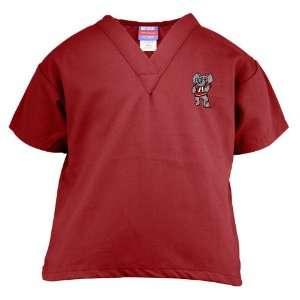 Tide Crimson Youth Mascot Scrub Top (X Small) Sports & Outdoors