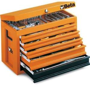 Beta C23 O Portable Tool Chest, with 5 Drawers, Orange Color