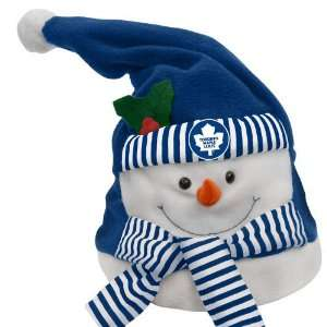 Toronto Maple Leafs Animated Musical Christmas Snowman Hat Home