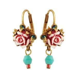 Vintage Roses, Blue Swarovski Crystals and Turquoise Beads Michal