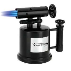 Vector Tri Pump Table Top Cigar Torch Lighter Black