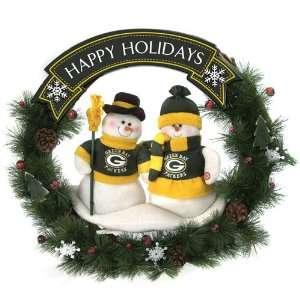 NFL Green Bay Packers 20 Snowmen Christmas Wreaths