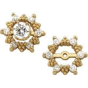 Stunning 14k Yellow gold .36cttw Diamond Earring Jackets Jewelry