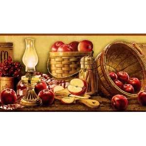 Basket of Apples Wallpaper Border: Home Improvement