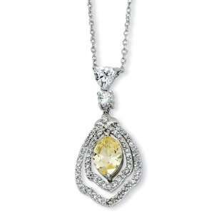 Silver Rhodium Plated Cubic Zirconia Pendant Arts, Crafts & Sewing