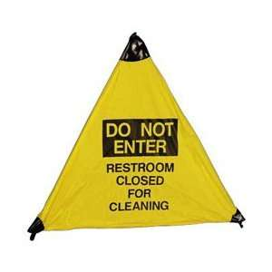 Handy Cone Floor Sign, Do Not Enter Restroom Closed For Cleaning, 18