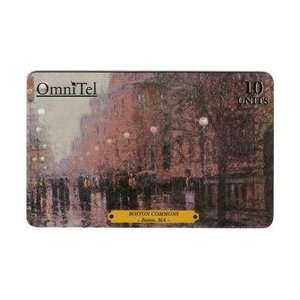 Collectible Phone Card 10u Boston Commons Painting (By
