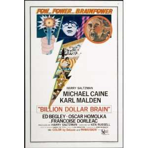 Billion Dollar Brain 1967 Original U.S. One Sheet Poster
