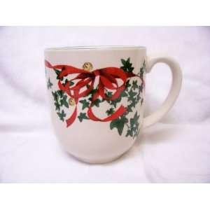 Spode Christmas Tree Red Ribbon Cafe Mug