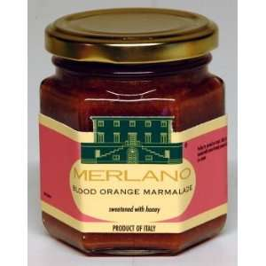 Sicilian Blood Orange Marmalade, sweetened with honey. No sugar added