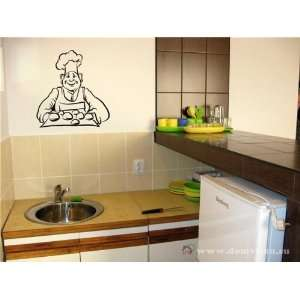 Bar Pub Bakery Baker Cook Chef Wall Vinyl Sticker Decals