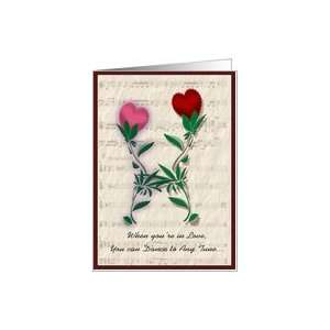 Dancing Hearts, Valentine Card
