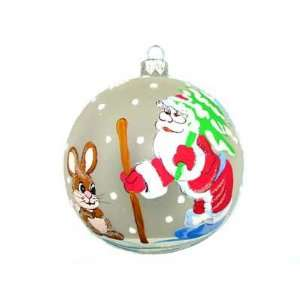 CHRISTMAS TREE ORNAMENT. Santa Claus and the Rabbit Ball