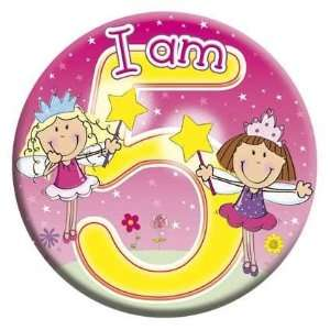 Expression Big Badges I Am 5   Girl Toys & Games
