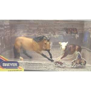 Breyer #3297   Cutting Horse & Cow: Toys & Games