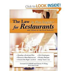 Law (in Plain English) for Restaurants and Others in the