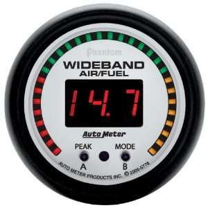 Auto Meter 5778 Phantom 2 1/16 Wideband Air/Fuel Ratio Gauge Kit with