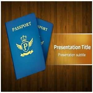 Passport PowerPoint Template   PowerPoint (PPT) Template on Passport