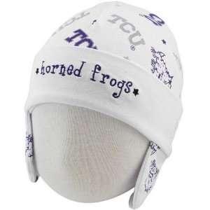 New Era Texas Christian Horned Frogs (TCU) Infant White Ski Knit Baby