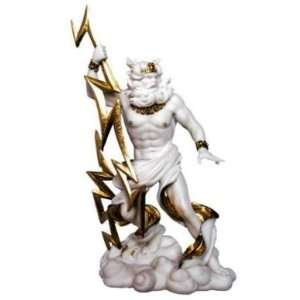 Zeus Greek God Statue wtih Lightning Bolts Home & Kitchen