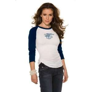 Nashville Predators Womens 3/4 Sleeve Raglan Top   by Alyssa Milano
