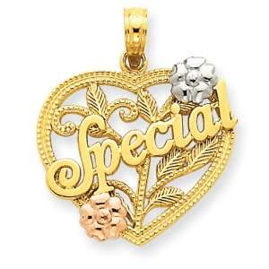 Gold With Rhodium Special In Heart Pendant West Coast Jewelry