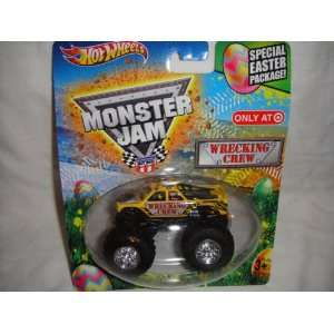 HOT WHEELS TARGET EXCLUSIVE EASTER EDITION MONSTER JAM WRECKING CREW