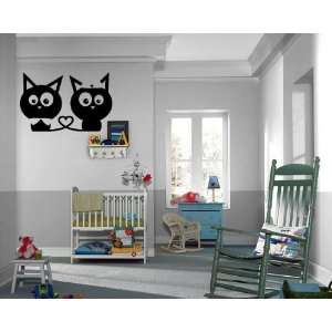 Kittens Love Heart Wall Mural Vinyl Art Sticker Kids Room M012