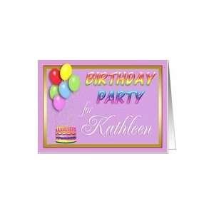 Kathleen Birthday Party Invitation Card  Toys & Games