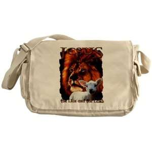 Khaki Messenger Bag Jesus The Lion And The Lamb: Everything Else