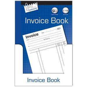 Invoice Book 1 100 PAGES NUMBERED WITH CARBON SHEETS