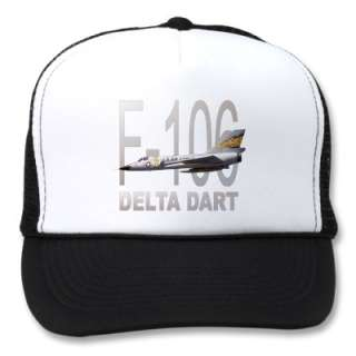 106 Delta Dart Fighter Jet Aircraft Mesh Hats from Zazzle