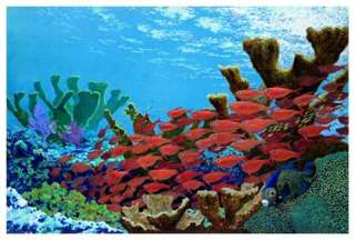 Copper Sweepers (Coral Reefs) Art Print by Richard Shaffett at