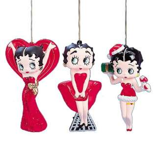 Betty Boop Blow Mold Ornaments   Kurt S. Adler   Betty Boop   Holiday