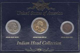 INDIAN HEAD COLLECTION Nickel Dollar Cent with Presentation Box