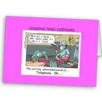 Code Blue Cartoon Funny Greeting Card cards by beardiethor123