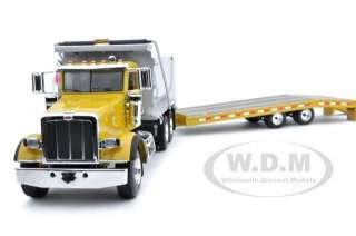 PETERBILT MODEL 367 DUMP TRUCK BEAVERTAIL TRAILER 1/50