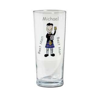 Straight pilsner glass can be personalised with cartoon character