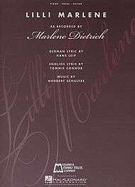Lili Marlene sheet music  Sheet Music Plus