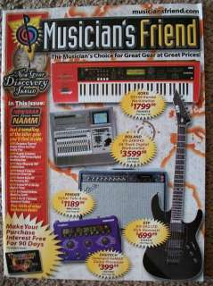 QK47:MUSICIANS FRIEND MAGAZINE NEW GEAR DISCOVERY