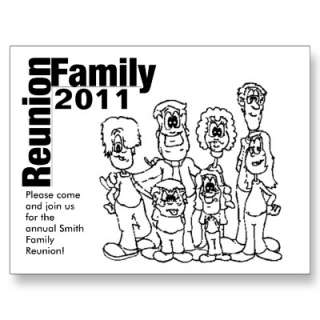Family Reunion 2011 Coloring Invite Postcard by Lynnes_creations