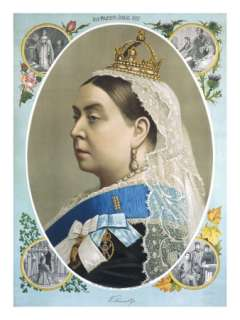 Colour Portrait of Queen Victoria Produced for Her Golden Jubilee