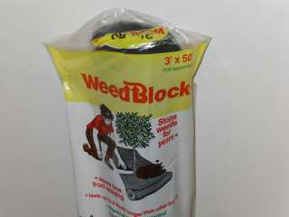 50 Weed Block Landscape Garden Fabric Weed Control Lawn Care by Easy