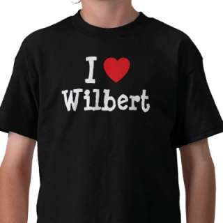 love Wilbert heart custom personalized T shirts from Zazzle
