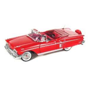 1958 Chevy Impala Convertible 1/24 Red Toys & Games