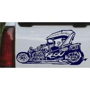 Rat Hot Rod Garage Decals Car Window Wall Laptop Decal Sticker    Navy