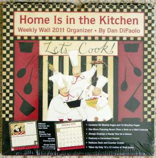 2011 HOME is in the KITCHEN ORGANIZING Wall CALENDAR*