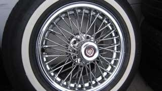 Tru Spoke FWD Cadillac Wire Wheels & Tires 15x7 Fleetwood Deville