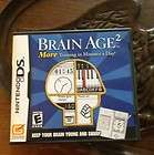 NINTENDO DSi GAME SYSTEM BRAIN AGE BUNDLE WHITE COLOR