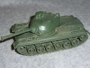 ARMY MEN TOY PLASTIC TANK 5 1/4 LONG